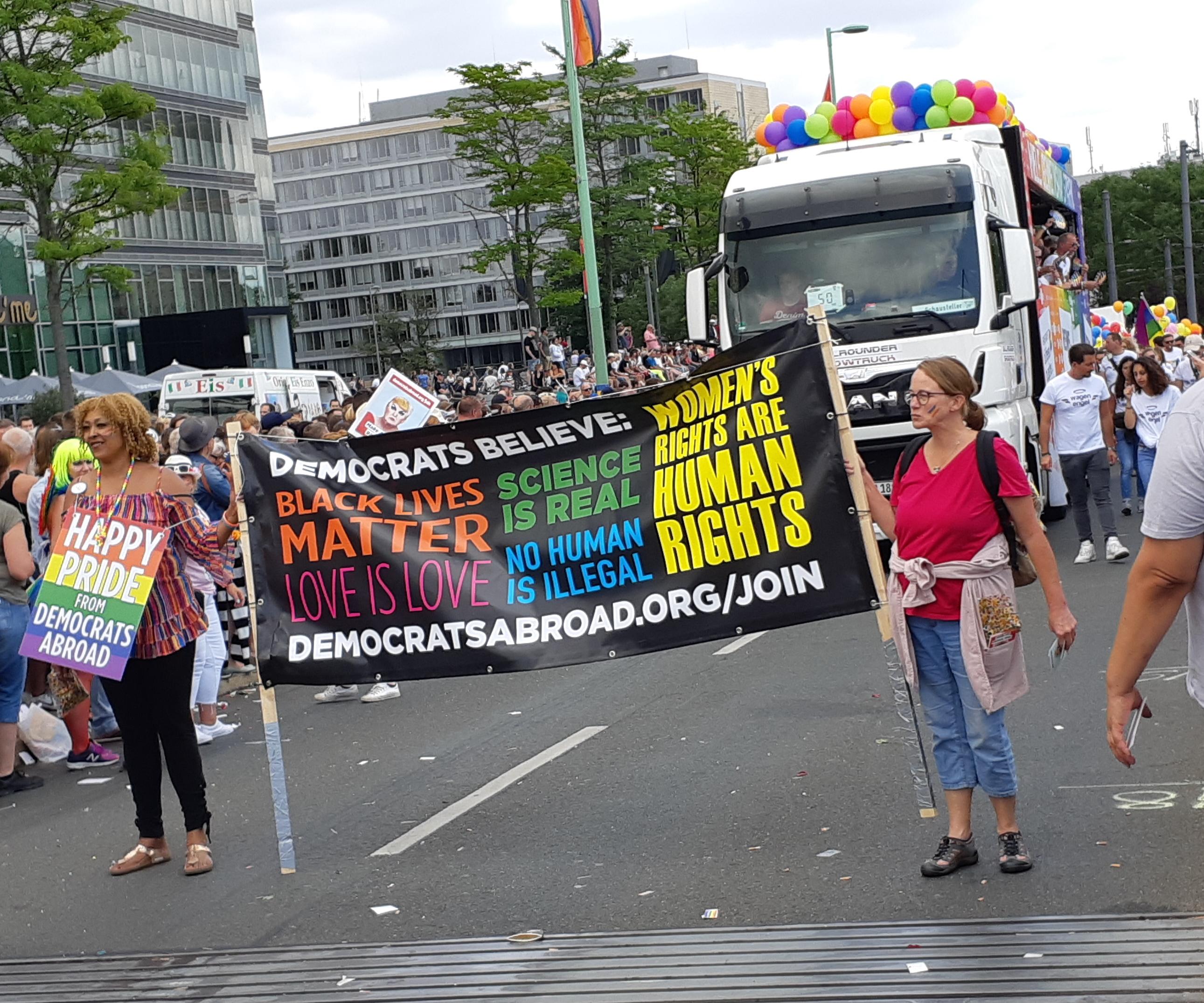 Toleranz-Plakat US Democrats CSD Köln